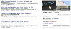 Google Resulaten voor WordPress Cursus Nijmegen