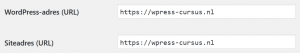 URL instellen via Instellingen > Algemeen