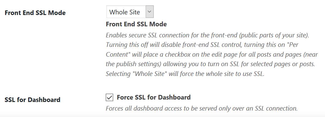 iThemes Security SSL